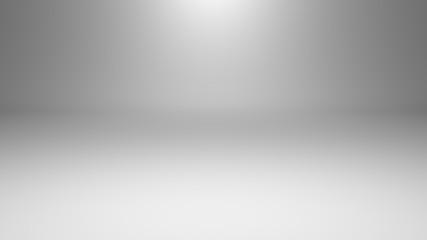 White empty photo studio of rectangular shape