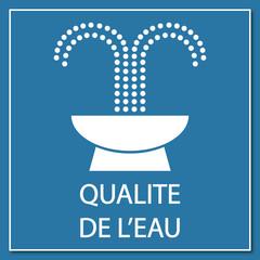 Logo qualité de l'eau.