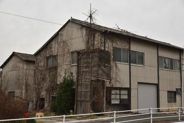 日本の岡山の廃屋