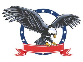 Eagle emblem isolated on white 2