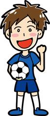 男子サッカー選手のイラスト素材