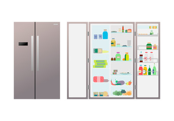 the refrigerator with food