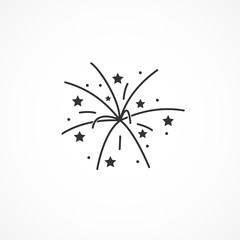 Vector image of a fireworks icon.