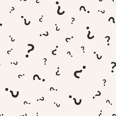 Question mark seamless pattern. Vector seamless pattern with question sign punctuation