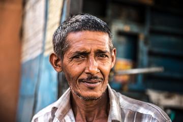 Indian man portrait on the street