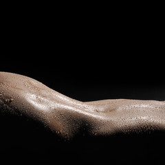 Perfect profile of woman body.