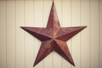 Big rustic rusty metal star