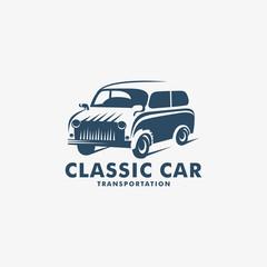 Classic Car Transportation logo, Classic Car icon