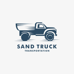 and Truck Transportation logo, Sand Truck icon