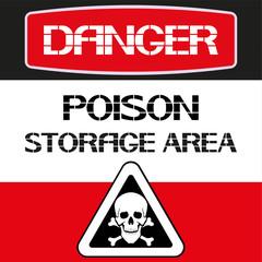 Poison storage area.