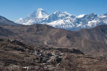 The view of Muktinath and Tukuche Peak
