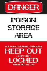 Danger.Poison storage area.