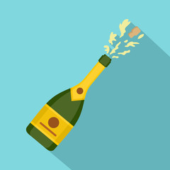 Champagne icon. Flat illustration of champagne vector icon for web