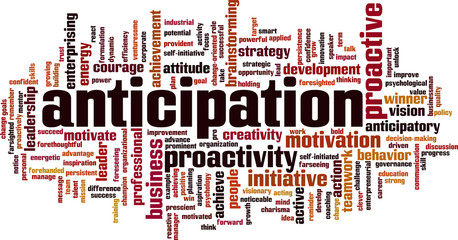 Anticipation word cloud