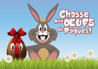 Pâques - œuf - œuf de Pâques - lapin - chocolat - chasse aux œufs - fête - enfant - tradition
