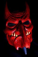 red demon mask, Halloween