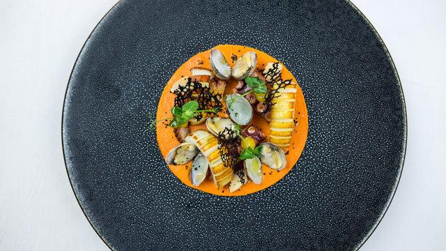 assiette gastronomique poisson