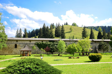 Beautiful mountain country garden