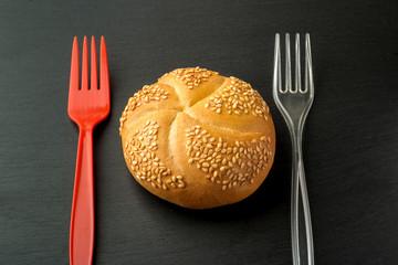 The bun should be eaten!