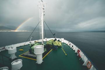 Rainbow over the Ocean - Tierra del Fuego