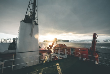 Sunset over the Mainland - Antarctica
