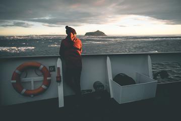 Man enjoying the Landscape - Antarctica