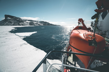 View from Expedition Vessel - Antarctica