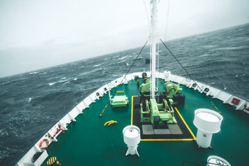 Expedition Vessel in the Drake Passage