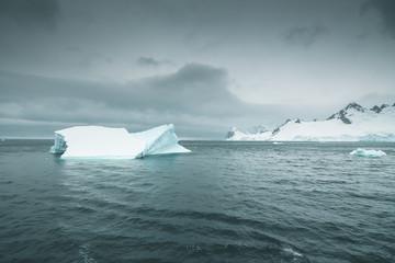 Pointed Iceberg in the Antarctic Ocean - Antarctica