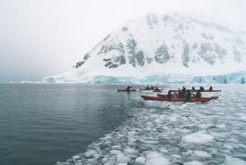 Kayaking in the Ice - Antarctica