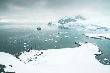 Panorama of Brown Station - Antarctica