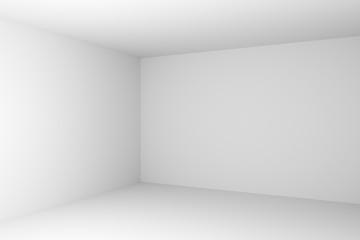 Corner of abstract white empty room closeup