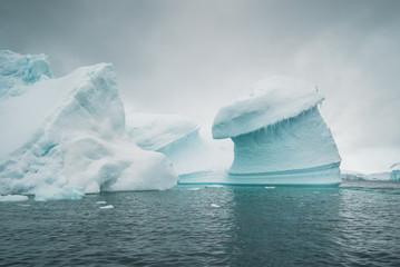 Ice Berg outstanding the Atlantic Ocean - Antarctica