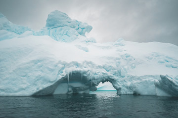 Tunnel in an Iceberg - Antarctica