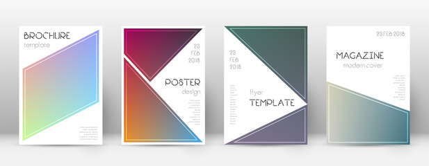 Flyer layout. Triangle elegant template for Brochure, Annual Report, Magazine, Poster, Corporate Presentation, Portfolio, Flyer. Bewitching color transition cover page.