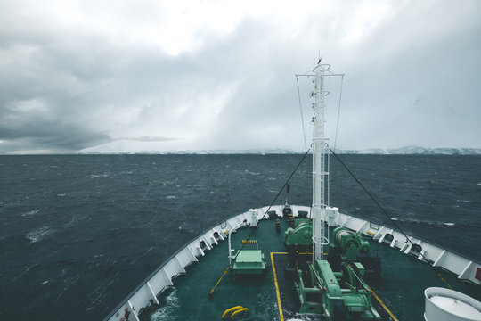 Ships Bow in the Wind - Antarctica
