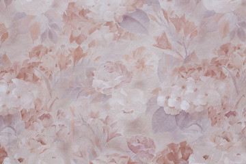 Light textured pattern with flowers