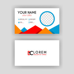 Simple Business Card with initial letter BC rounded edges
