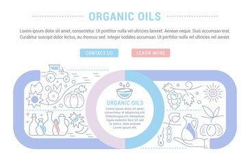 Website Banner and Landing Page of Organic Oils.
