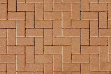 Red stone pavement background texture Wall mural