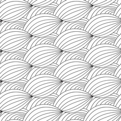 Drawn seamless pattern with waves