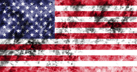 Old United States grunge background flag