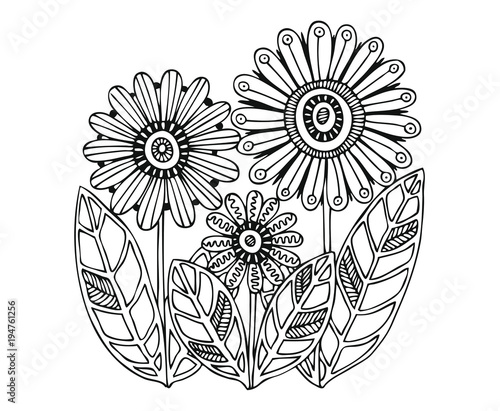 Sketch For Anti Stress Adult Coloring Book In Zen Tangle