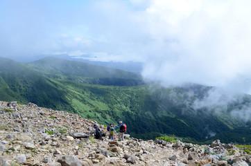 那須岳登山道からの風景