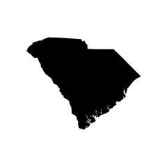 .Map of the U.S. state of South Carolina.