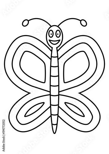 Schmetterling Ausmalbild\