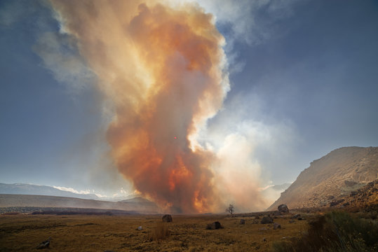 Wildfire Smoke In The Owens Valley