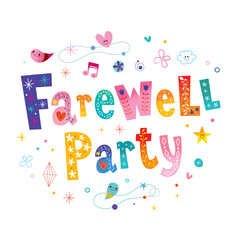 Farewell party decorative lettering