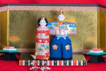 ひな祭りの飾られたひな人形、岡山市備前にて