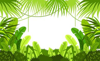 tropical forest. frame. child. design. vector background. illustration
